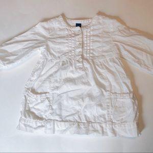▪️Gap Kids 3T White Long Sleeve Tunic